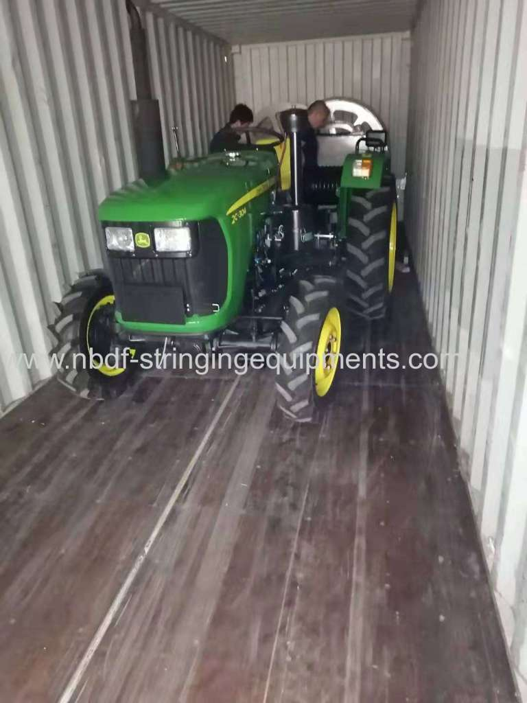 Tractor type pulling machine exported to Asian countries