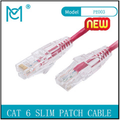 MC CAT6 SLIM UTP CAT6 28AWG PVC Patch Cable OD:3.5MM For Component testing