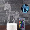 Led Acrylic Unicorn 3D Colours Sleep Kids Gift Room Decration Night Light