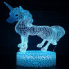 Led Acrylic Unicorn 3D Kids Gift Decration Night Light