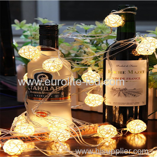 Led Solar Powered Waterproof Sepaktakraw Decoration String Night Light