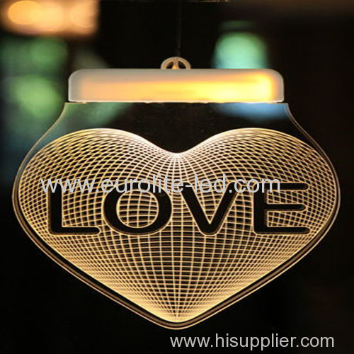Led Acrylic 3D USB Romantic Pendant Decoration Icicle Light