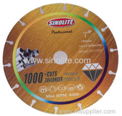 Diamond Vacuum Brazed Cutting Blade for Metal