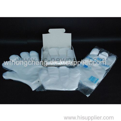 PE glove disposable transparent hdpe glove plastic polyethylene gloves