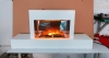 "38"" wall mounted Electric Fireplace with wood mantel"