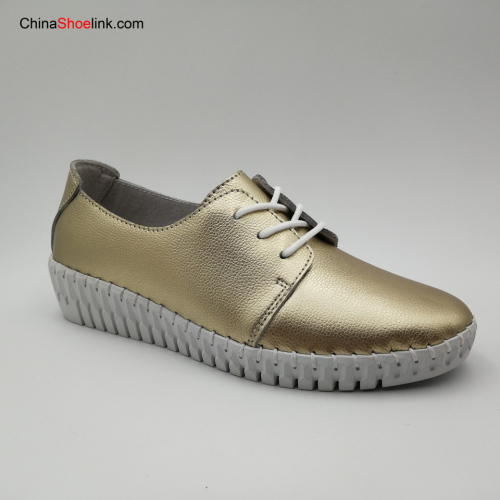 Women's Casual Shoes Genuine Leather Woman Female Flats Leisure Shoe