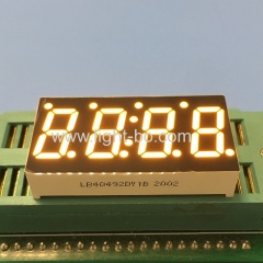 Ultra bright yellow common cathode 4 digit 7 segment led display for temperature humidity indicator