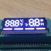 Customized ultra white / Red 7 Segment LED Display common anode for temperature /timer indicator