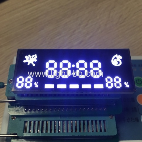 Ultra thin customized ultra white 7 segment led display for timer / humidity indicator