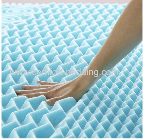Hot sale OEM factory price 7 zone rollable bed gel infused sponge memory foam thin mattress topper