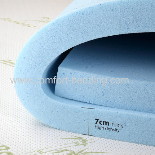 Home bedroom furniture memory foam infused gel topper