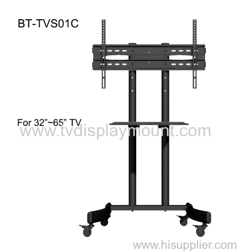 Competitive 600*400 Moveable TV Cart Stand with Wheels Standing Trolley