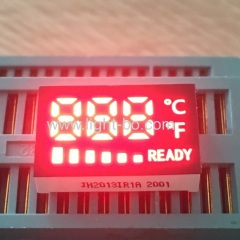 Customized small size 3 Digit red 7 segment led display common anode for temperature indicator