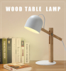 Nordic contemporary led desk lamp contracted originality wood table light europe type table lamp