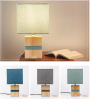 Bedroom bedside wooden table light simple warm light rubber wood nordic desk lamp