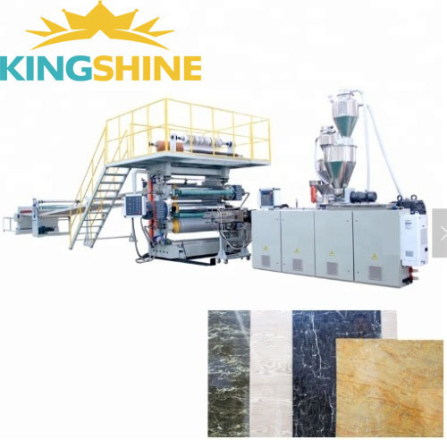 PVC marble sheet machine production line