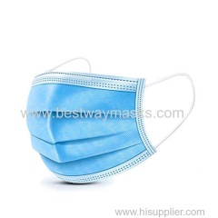 3 layers and 4 layers of protective disposable civil mask breathabledustproof and anti-smog non-woven cloth plus melt