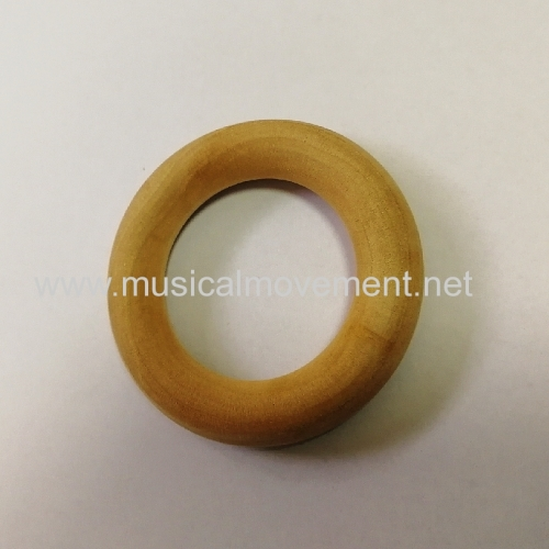 PULL STRING MUSIC BOX WOOD RING HANDLE