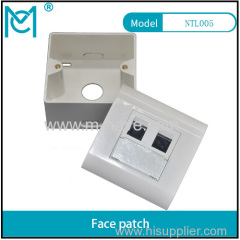 MC CAT 6A Class EA Network Outlet French wall plate 86*86