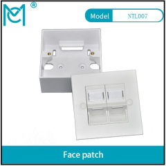 MC CAT 6A Class EA Network Outlet British wall plate 86*86