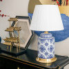 Antique porcelain lamp blue and white