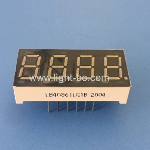 Pure Green 0.36inch 4-Digit 7 Segment LED Dispaly common cathode for Instrument Panel
