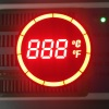 Customized ultra red round shape 7 segment LED display for Temperature Controller