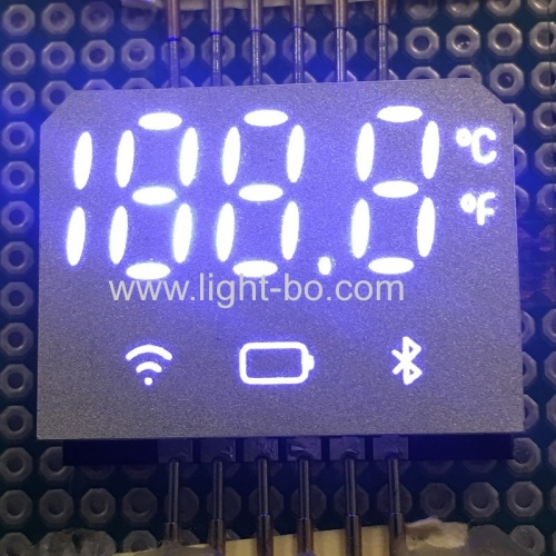 Hot Sales Ultra thin White color SMD 7 Segment LED Display for Forehead thermometer