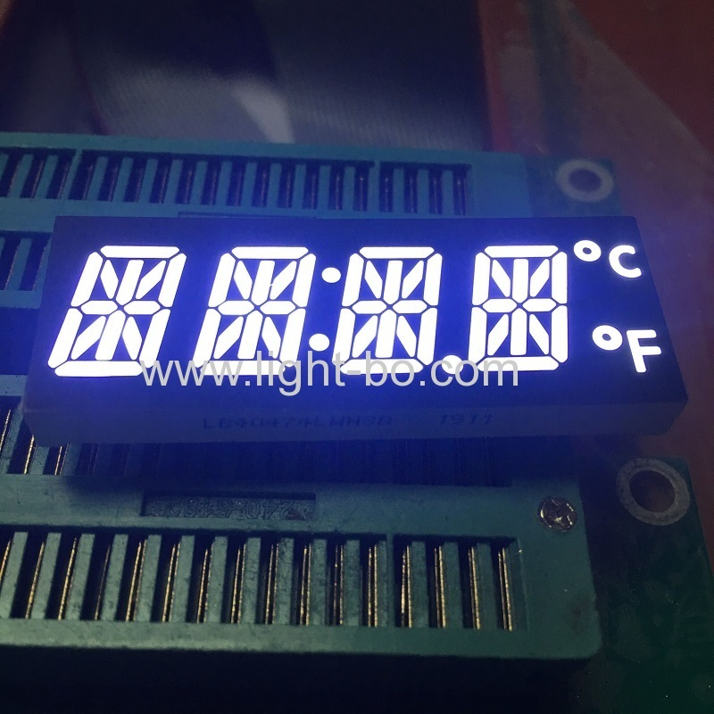 Customized ultra bright white 12mm 4 Digit 14 Segment LED Display for oven timer