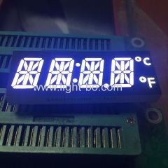 Customized ultra bright white 12mm 4 Digit 14 Segment LED Display for digital timer control