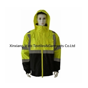 High Visibility Water Proof Frc Rain Jacket / Fire Retardant Fleece Jacket