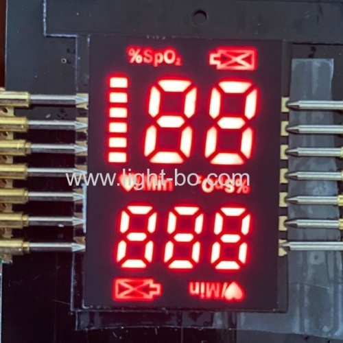 Hot sale Ultra red ultra thin 2.8mm ONLY customized SMD LED Display for Finger Pulse Oximeters