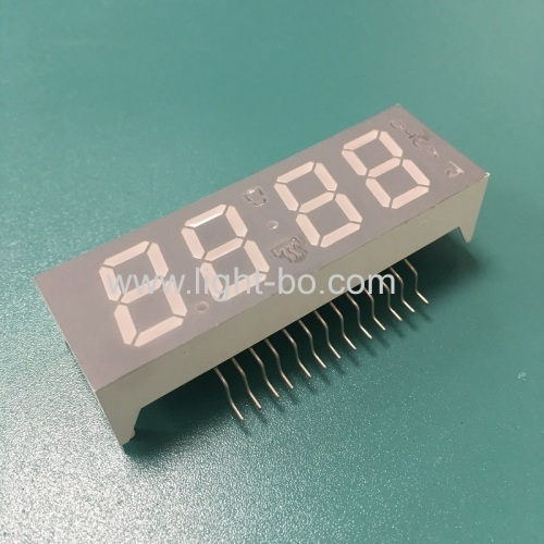 Ultra white customized 4 digit 7 Segment LED Display common anode for oven timer control