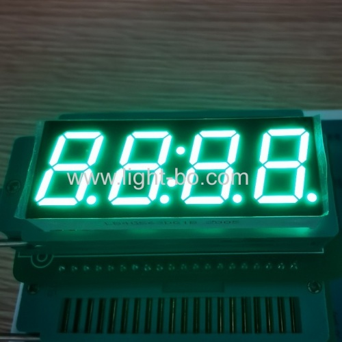 "Pure Green 0.56"" 4 Digit 7 Segment LED Clock Display common cathode for home appliances"