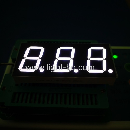 Ultra white 0.8inch 3 Digits 7 Segment LED Display common cathode for instrument panel
