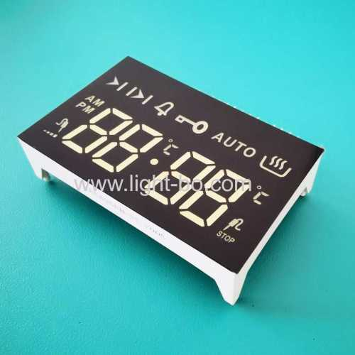 Ultra White 4 Digits 7 Segment LED Display Common cathode for built-in 4 key touch oven timer