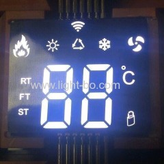 Ultra thin white color Customized SMD LED Display for room temperature controller