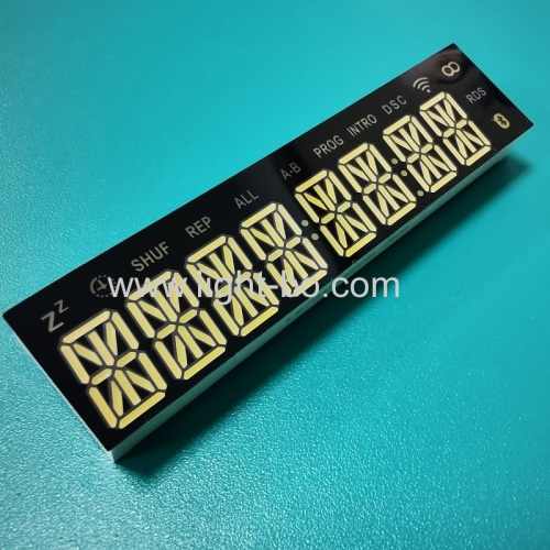 Ultra white custom design 8 digit 14 segment led display common cathode for Blue Speaker