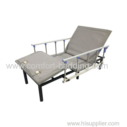 Factory price hospital nursing bed healthcare bed with handrails best adjustable bed