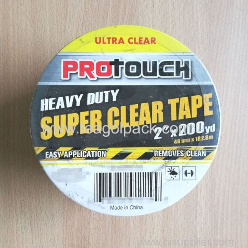 Heavy Duty Super Clear Packing Tape 48mmx182.M (2 x200Yd)