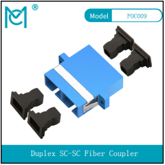 Double-port SC duplex flange fiber coupler sc flange connector fiber adapter carrier-grade