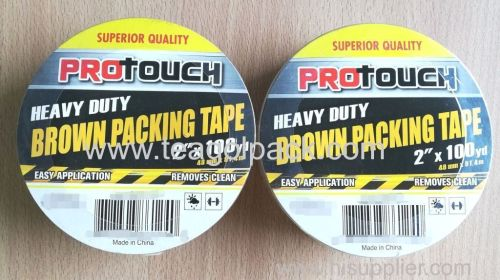 Heavy Duty Brown Packing Tape 48mmx91.4M (2 x100Yd)