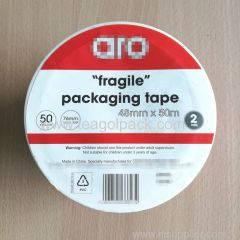 "Set of 2 Packaging Tape 48mmx50M with ""Fragile"" Printed"