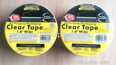 "All Purpose Packaging Clear Tape 1.8""x55Yards"