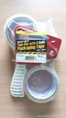 "Heave Duty Tape Gun With 2 Rolls Packaging Tape 48mmx45.7M (1.89""x55Yds)"