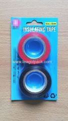 2 Pack Insulating Tape 18mmx10M Black/Red
