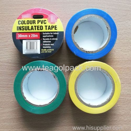 Colour PVC Insulated Tape 30mmx20M