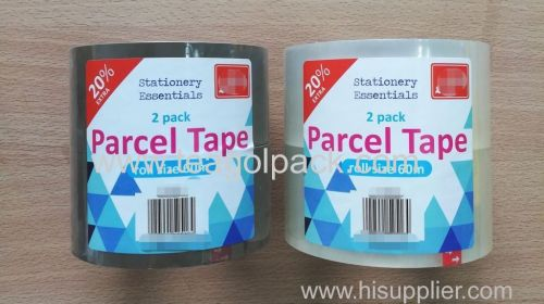 Stationery Essentials 2 Pack Parcel Tape 60M