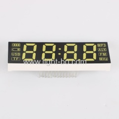 Ultra white Customized 21mm 4 Digits 7 segment led display common cathode for bluebooth speaker