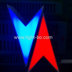 Dual colour blue/red Arrow LED Display for elevator direction indicator